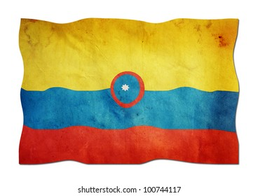 Colombian Flag made of Paper