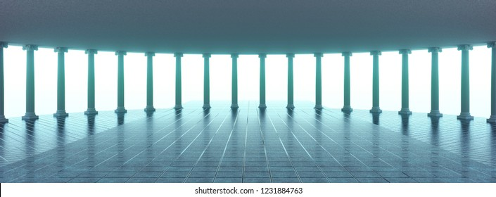 Colonnade in 3d