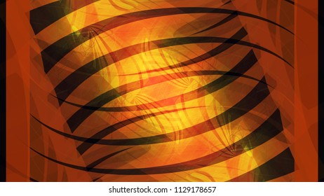 Color abstract painting of infinity. Three-dimensional prostration. Different shapes are superimposed over the main background. Curved, Psychics and Paradox.