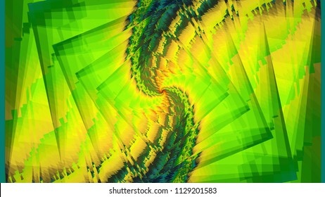 Color abstract painting of infinity. Three-dimensional prostration. Different shapes are superimposed over the main background. Beauty, Decorative and Frame.