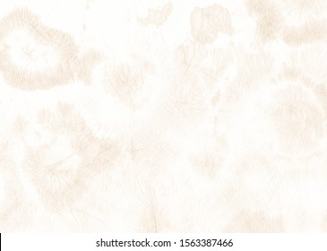 Color Background. Neutral Fashion Shirt.  Nude Neutral Bleached Art.  Neutral Blurred Craft. Nude Color Background. Dirty Shibori Clothes. Ornament Solid Paint.