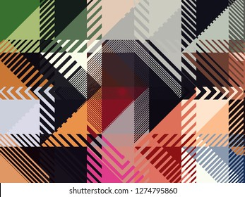 Color Block Backgrounds. boldness & versatility of color blocking! Take your color block designs to the next level with beautiful background, which combine modern colors & trendy patterns Illustration