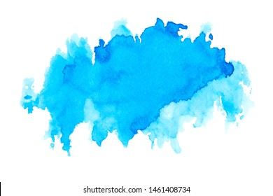 color blue watercolor painting background