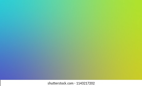 Color blurred gradient background blue, green and yellow. Generated, Decoration and Space.