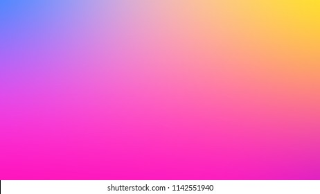 Color blurred gradient background fuchsia, yellow and blue. Website, Border and Luminescence.