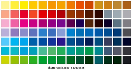 Color Chart Images, Stock Photos & Vectors | Shutterstock