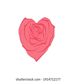 Color clip art of a red heart.