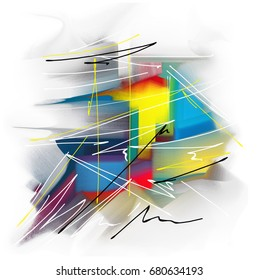 Color creative abstract art, watercolor abstract background