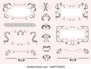 Color decorative design elements for designers.