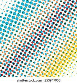Color dot background.