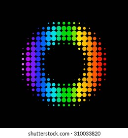 color dot background. abstract  halftone background. raster version