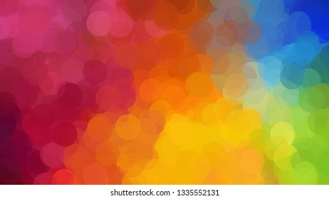 color dot bokeh colorful cluster of circle illustration background dreamy theme