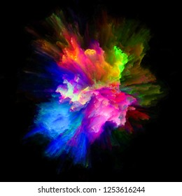 Color Emotion series. Backdrop of  color explosion to complement designs on the subject of imagination, creativity art and design