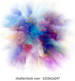 Color Emotion series. Background composition of  color explosion on the subject of imagination, creativity art and design