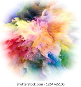 Color Emotion series. Design made of color explosion to serve as backdrop for projects related to imagination, creativity art and design