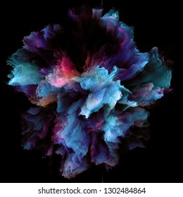 Color Emotion series. Design made of color burst splash explosion to serve as backdrop for projects related to imagination, creativity art and design
