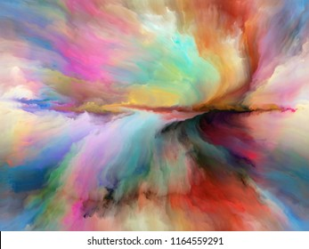 Color Flow series. Interplay of streams of digital paint on the subject of music, creativity, imagination, art and design