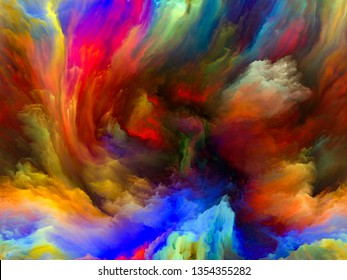 Color Flow series. Visually pleasing composition of streams of digital paint for works on music, creativity, imagination, art and design