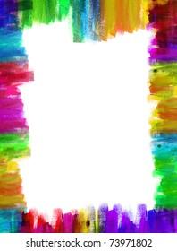 A Color frame on canvas