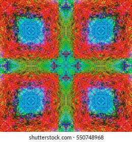 Color full pattern. Red,blue,yellow and green colored background.