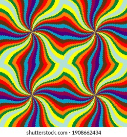 Color movement effect. Spinning color background. Abstract background, seamless pattern.
