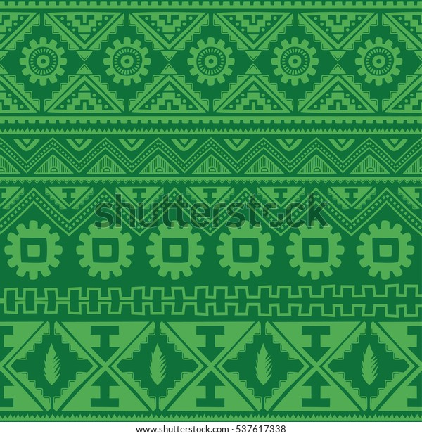 Color Native American Ethnic Pattern Stockillustration 537617338