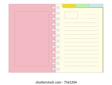 Color notepad with ring binder