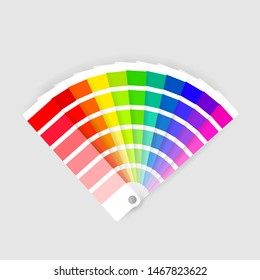 Color palette guide on background