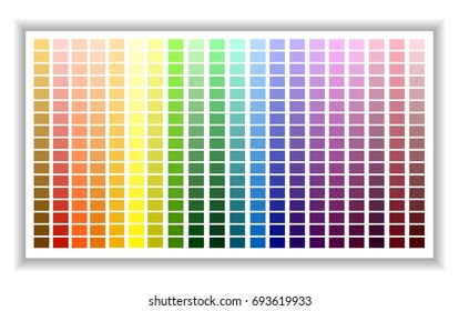 Color palette. Color shade chart.