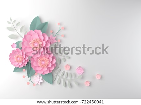 color paper flower wallpaper background abstractのイラスト素材
