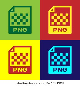 Color PNG file document icon. Download png button icon isolated on color backgrounds. PNG file symbol