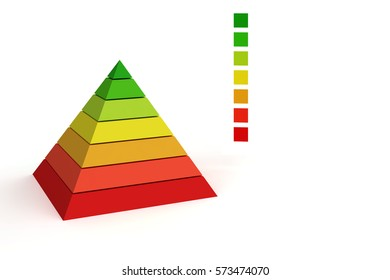 color pyramid diagram