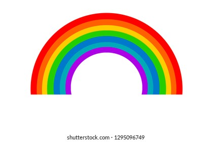 Color rainbow element isolated on white, 3D rendering