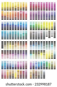 Color reference illustration for all shades from 100 to 7547