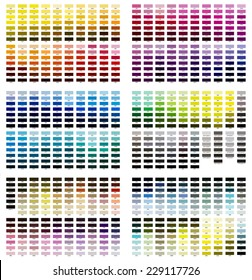 Color reference illustration. Shades from 100 to 627.