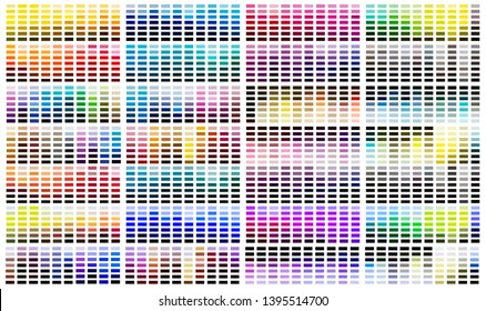 Color reference swatch palette catalogue