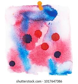 Color retro vintage abstract watercolour aquarelle art hand drawn paint