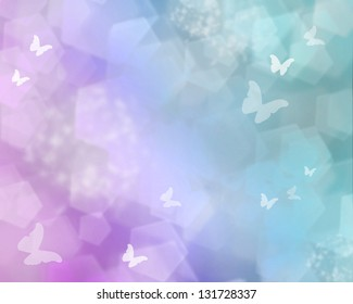 Color shine with butterflies as abstract lights background