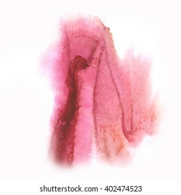 color splash stroke abstract purple pink watercolor spot macro watercolour blotch texture isolated white background