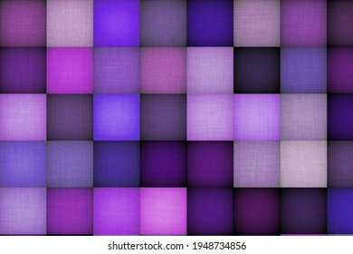 color square pattern and puffy quilt 3d