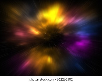 Color Starry Universe Vortex Background