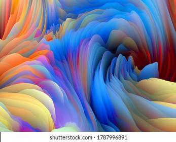 Serie Tormenta de colores. 3D Representación de espuma saturada abstracta para servir de fondo o fondo sobre el tema del arte y el diseño