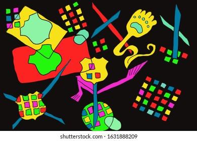 Color Symbols Abstract/Pop Art Illustration