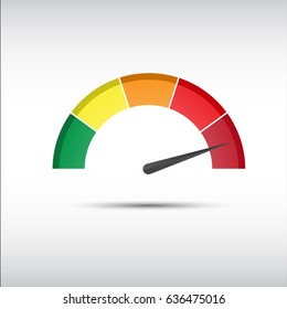 Color tachometer, speedometer and performance measurement icon, illustration for your website, infographic and apps (Vector version is also available in my portfolio, ID 411446383)