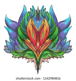 Color tattoo concept