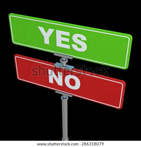 Color Traffic Signs Inscription Yes No Stock Illustration 286318079