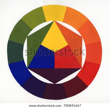 Color Wheel Color Circle Painting By Stock Illustration 700845667