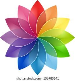 Color Wheel Flower