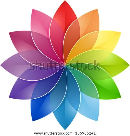 Color Wheel Flower Stock Illustration 156985241 Shutterstock