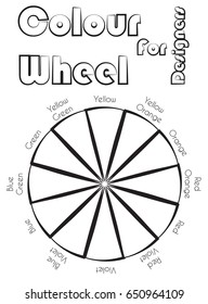 Color Wheel for use as coloring page